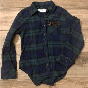 Abercrombie Kids Girls Sequin Flannel